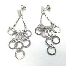 14k Solid White Gold Chandelier Style Earrings