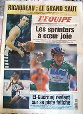 L'Equipe Journal 7/7/1999; Rigaudeau; le grand saut/ El-Guerrouj revient/ Tour