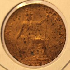 1909 Great Britain 1/2 Half Penny Coin and Holder Thecoindigger United Kingdom