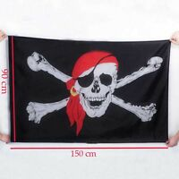 Fahne Flagge - Totenkopf Pirat mit Säbel - 90 x 150 cm, mit 2 Ösen 3 * 5ft