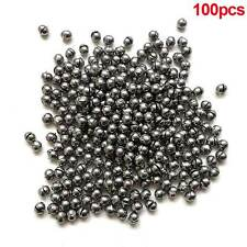 100x 0.5g Round Fishing Weight Fishing Sinker Split Lead Shot Sinker Hot Selling