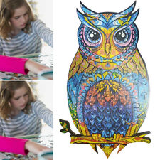 Amazing Wooden Jigsaw Puzzle Magic Owl Unique Shape Ideal Gift Adults Kids Toys