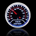 Universal Car 52mm 2 Voltmeter Voltage Gauge Led White Backlight 8-18v Meter Us