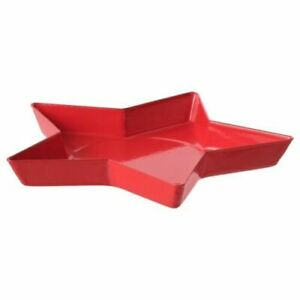 Candle dish, star, red , 15 cm
