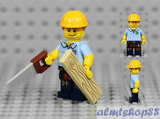 LEGO Series 13 - Carpenter 71008 Minifigure Wood Worker Saw Collectible CMF
