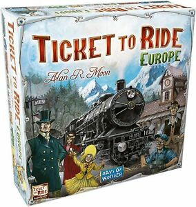 Ticket to Ride Europe Family Board Game - NEW/SEALED/DEFECTIVE/ONLY 5 STATIONS