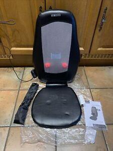 Homedics Gel Shiatsu Massage Chair Slip Heat Function Back Shoulders Control