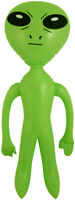 Alien gonflable accessoire Halloween 64 cm décoration fête extraterrestre espace