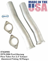 """2.5"""" 2 1/2"""" FORD MUSTANG Flow Tubes with Intermediate Pipe  CNC MANDREL BENDS"""
