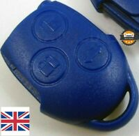 FORD TRANSIT CONNECT MK7 BLUE REMOTE KEY FOB CASE 3 BUTTON SHELL VAN VL2330