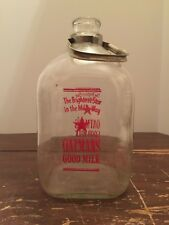 Vintage Oatman's Dairy Aurora Illinois 1 Gallon Milk Bottle