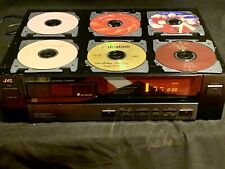Vintage JVC 6 Disc Automatic Changer XL-M303BK w/ 6 Xmas CDs Tested No Remote