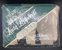 Lady Pepperell Elephant Print 3 Piece Twin Set Sheet Percale No Iron -New RARE-