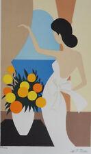 Maria-Teresa TORRES  : Femme de dos    - LITHOGRAPHIE Originale signée #250EX