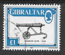 GIBRALTAR SG 579 VERY FINE USED. 1987 CANNONS TOP VALUE.