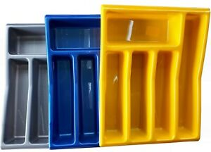 Cutlery Tray drawer organiser,5 storage compartments,plastic divider 26.5 x 34cm