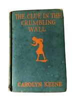 Nancy Drew Book Clue Crumbling Wall Vintage First Edition Hardcover Holiday Gift