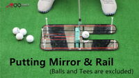 A99Golf Putting Mirror & Rail Alignment Practice Training Aid Portable