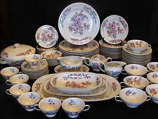 Vintage 84 Piece Rosenthal Continental Ivory 18 Germany China Set Floral Bird