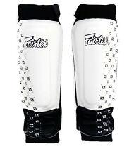 New Fairtex SP6 NEOPRENE SHIN PADS White Slip On Shin Guards for MMA training