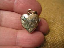 ███► edad corazón colgante/fotomedaillon con Opal-para 1900 (32 especializada)