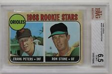 Frank Peters Ron Stone Orioles 1968 Topps Rookie Card #409 Beckett GradedBGS 6.5