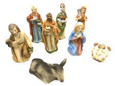 Rare Vintage Homco 5216 Home Interiors Christmas Nativity Figurines Lot Set Of 7