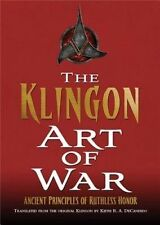 Star Trek Klingon Art of War Keith DeCandido Hardcover Ancient Principles