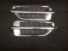SET OF 2 CADILLAC ESCALADE STYLE UNIVERSAL CHROME SIDE FENDER VENT LOUVER LH/RH