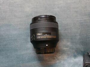 Nikon Nikkor 85mm f/1.8 AF-S Lens with filter