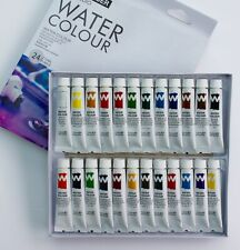 Watercolour Paint Paints Set Tubes 12ML x 24 COLOURS  Artist Students FREE POST