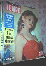 TEMPO #  2 - 9 GENNAIO 1958 - BRIGITTE BARDOT - DELIA SCALA