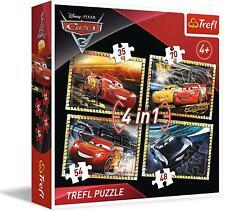 Trefl 34276 Cars 3 4-in-1 Puzzle