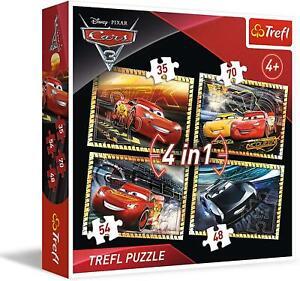 Trefl 4 in 1 Disney Pixar Cars Jigsaw Puzzle 35-48-54-70 Pieces 4+ Game