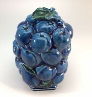 """1960's Inarco Vintage Mood Indigo Blue Tea Small Canister Piece 6.25"""" Tall"""