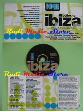 CD NME BOLLOX TO IBIZA AUTUMN compilation PROMO 1999 LETFIELD LFO (C24) no mc lp