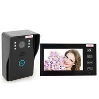 """7"""" LCD Display Wireless Video Doorbell Intercom CAM Home Security Entry Monitor"""