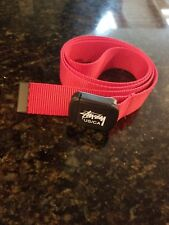 Stussy Belt Red plastic buckle