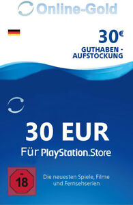 30€ PSN Card Playstation Network Guthaben Code - 30 EUR PS5 PS3 PS4 PS Vita - DE