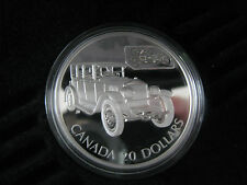 2002 Canada $20.00 Sterling Silver Proof Coin Gray-Dort Transportation Hologram
