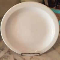 Homer Laughlin All White Round Restaurant Ware Plate 9.5 Inch