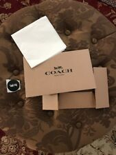 Coach Gift Box With Tissue With Sticker Size 10x6x2.5 Inches