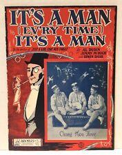 """""""It's A Man (Ev'ry Time) It's A Man"""" - Original 1923 Sheet Music By Al Dubin"""