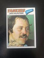 1977 TOPPS #280 CATFISH HUNTER HOF NY YANKEES— ICONIC CARD💥*** (wph)