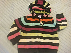GYmboree imaginary friends panda rainbow strpe sweater cardigan 18-24 mos hoodie