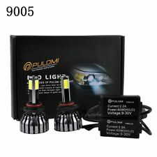 120W 12800lm 4 Sides COB LED Headlight Kits 9005 Low Beam 6000K Bulbs White SZ