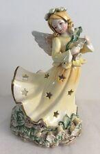 2002 Kathy Killip  Wildflower Angel Tea light Votive Holder Lily Of The Valley