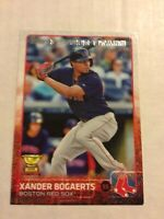 2015 Topps Series 1 Xander Bogaerts Gold Cup Card Boston Red Sox #327
