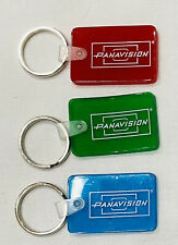 NEW Original Small Panavision 3 Key Chains Red Blue Green