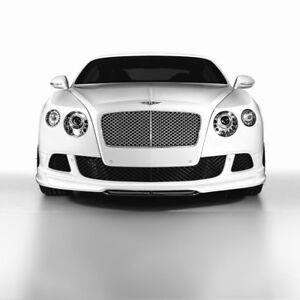 Bentley Continental Gt Gtc Front Bumper Grill Set Black W12